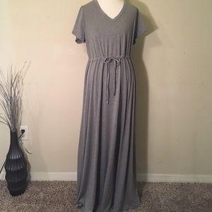Torrid maxi Gray V-neck dress